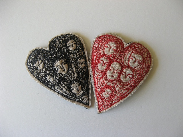cathy cullis stitched hearts: