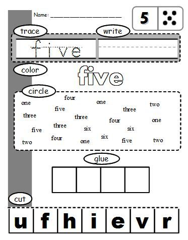 a cool free worksheet that allows students to practice different numbers multiple ways idea - Free Color Word Worksheets
