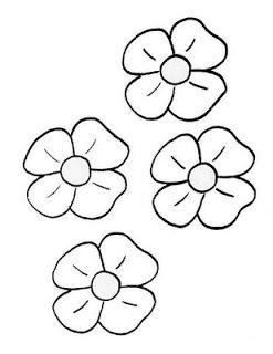 Moldes Y Figuras De Sucha Foami Moldes De Flores Escuela Flower
