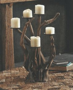 Driftwood Candelabra Vertical Perfect for parties  More at Modish www.modishstore.com