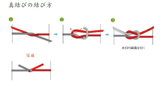 水引の結び方 Tie with mizuhiki 真結び
