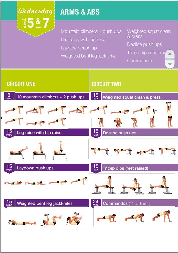 BBG (Bikini Body Guide): 12-week exercise plan (intense 28 min. workouts 3 days a week)