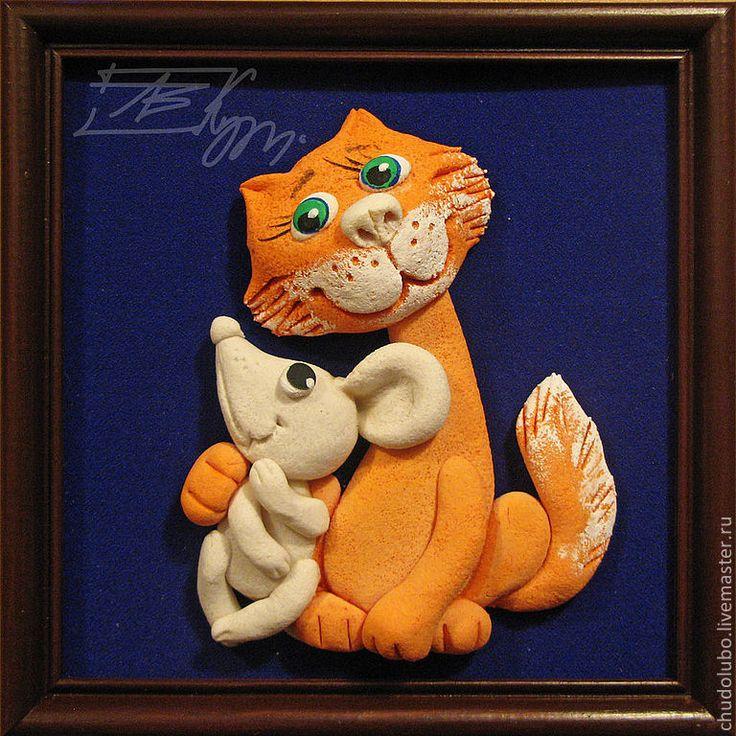 """Животные ручной работы. Ярмарка Мастеров - ручная работа панно """" """" Кошки-мышки"""". Handmade."""