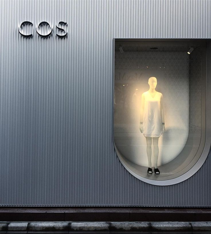 """COS, Ginza, Tokyo, Japan, """" Inspired by the curved arches and gateways of ancient architecture"""", photo by Naoyuki Kakihara, pinned by Ton van der Veer"""