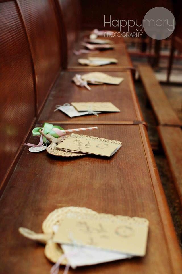 Notre mariage: nos livrets de messe et la décoration de notre cérémonie…