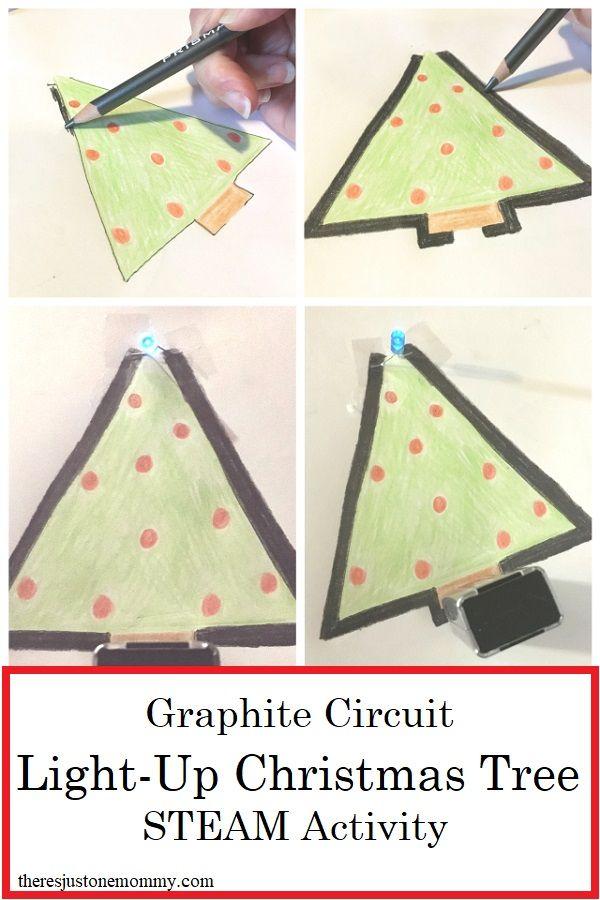 Christmas STEM Make a Graphite Circuit Christmas Tree