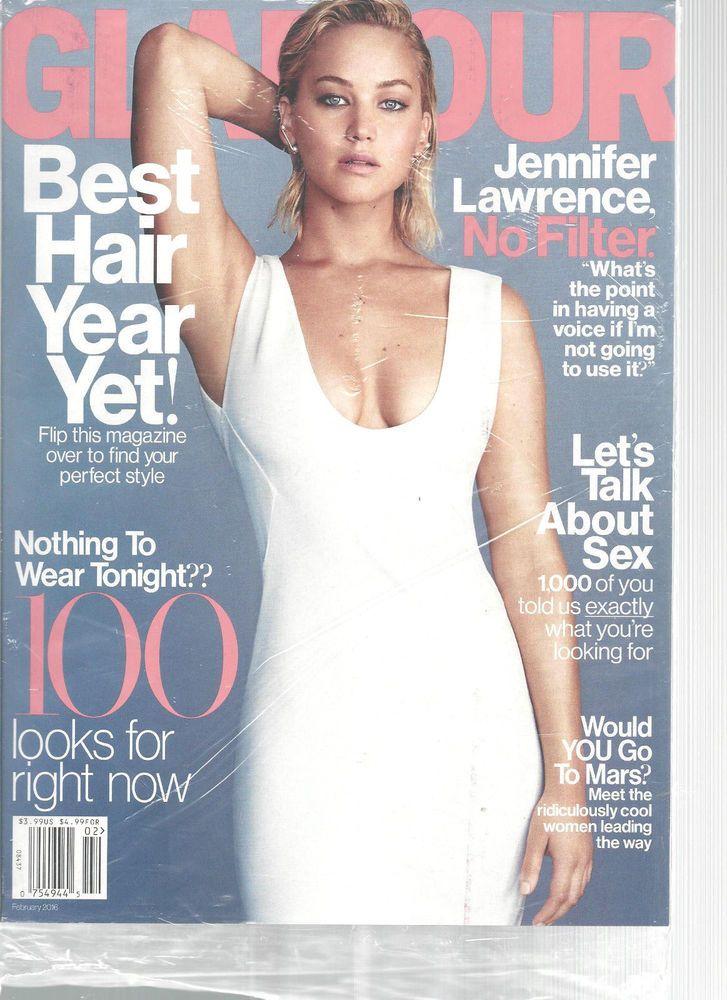 Jennifer Lawrence Glamour Magazine February 2016 Go To Mars? Best Hair  #CondeNast