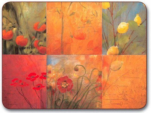 """Jason Citrus Garden Placemats - Set of 4 (Large) by Jason. $39.85. Single image design. Gift Boxed. Size: 17"""" x 11.5"""". Heat resistant to 225ºF. Durable, heat sealed surface. Hardboard, Cork backed. Attractive top quality placemats by Jason of New Zealand. The hardboard and cork is sourced from renewable resources. The edges are heat sealed, the surface is smooth and the cork backing will protect your table. Just wipe clean with a damp cloth."""