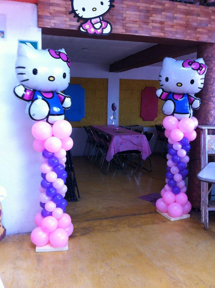 Torres de globos hello kitty balloons without helium - Globos para fiestas ...