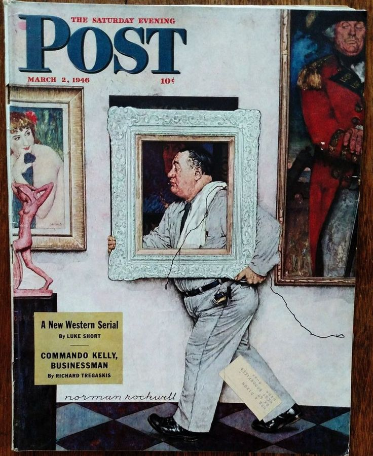 Saturday Evening Post March 2, 1946 Norman Rockwell Cover