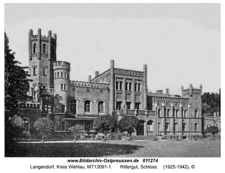 Langendorf Kr. Wehlau / Ostpreußen   Rittergut, Schloss
