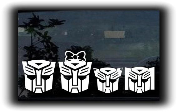 Transformers Auto Bots Family  - Custom Window Decal Stickers - Choose Size and Family - **Free Shipping**