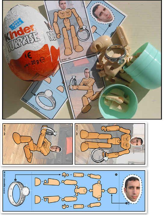 Say it inside a Kinder egg.   The 14 Best Ways To Propose Marriage With Food