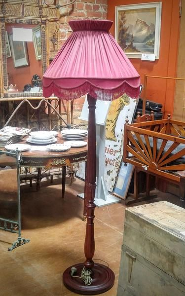 GA1058   -   Period Mahogany Standard Lamp