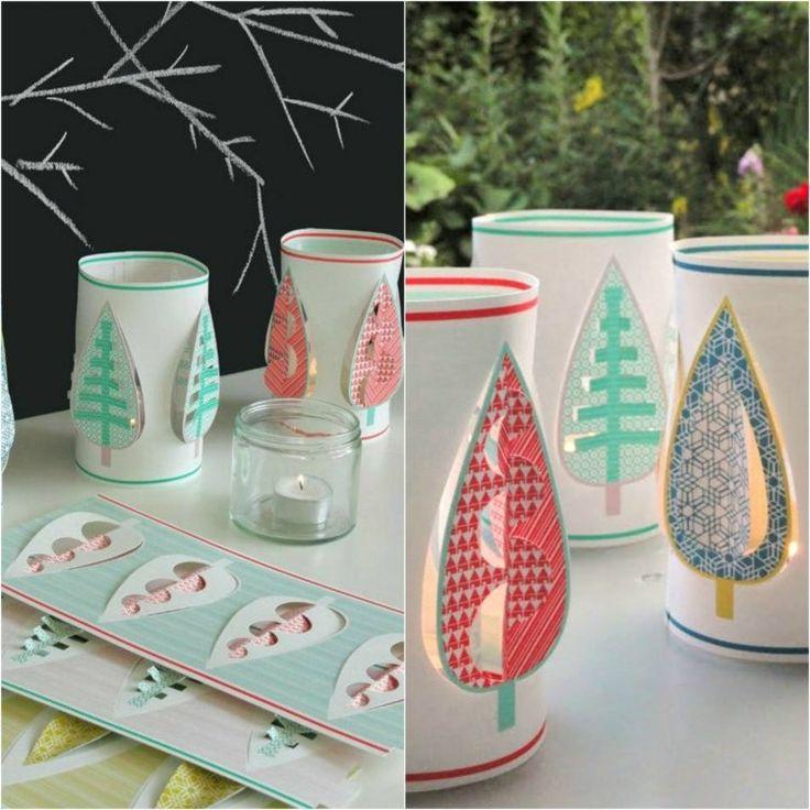 des lanternes en papier à motifs 3D à faire soi-même en tant que décoration d'automne