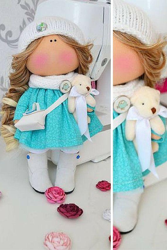 Tilda doll Fabric doll Interior doll Handmade by AnnKirillartPlace