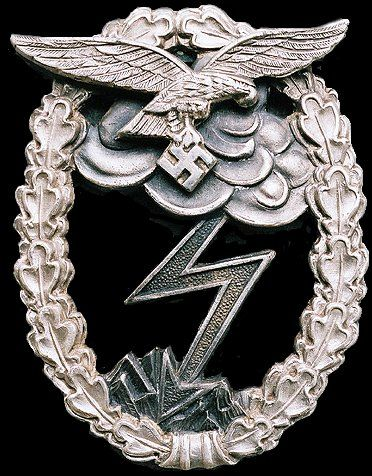 The Luftwaffe Ground Assault Badge was designed by Professor von Weech of Berlin and instituted by Hermann Goring on March 31, 1942 to honor Air Force personnel that took part in ground military actions.  Individuals who were previously awarded the General Assault Badge, Infantry Assault Badge or the Tank Assault Badge, exchanged them for this badge at this point.