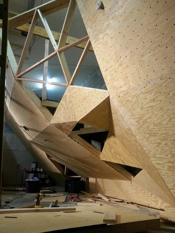 home climbing wall plywood 15