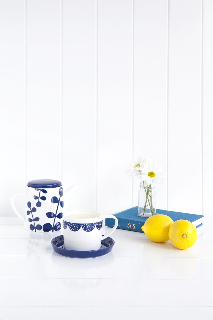 Embrace the benefits of fresh lemon and ginger tea and our gorgeous Swedish tea pot and tea cups