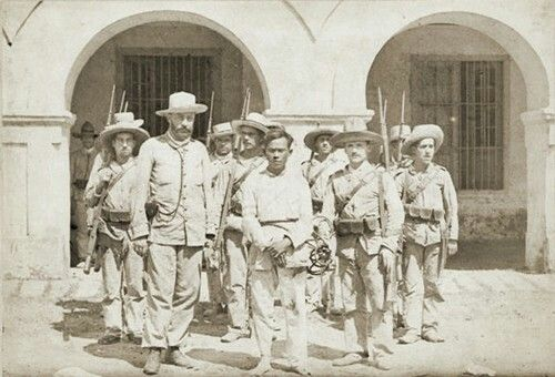 "January 1897:  Eusebio Roque, aka ""Maestrong Sebio"" and ""Dimabunggo,"" as prisoner of the Spanish. He founded the ""Republic of Kakarong de Sili"" in 1896 at Pandi, Bulacan Province. He was executed by firing squad."