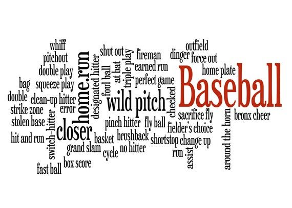 Baseball Terms Words 11x14 Print by customthings on Etsy, $10.95