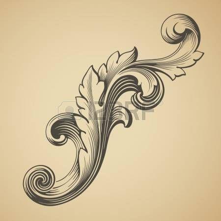 vektor Barock Design-Rahmen Musterelements Gravur Retro-Stil photo