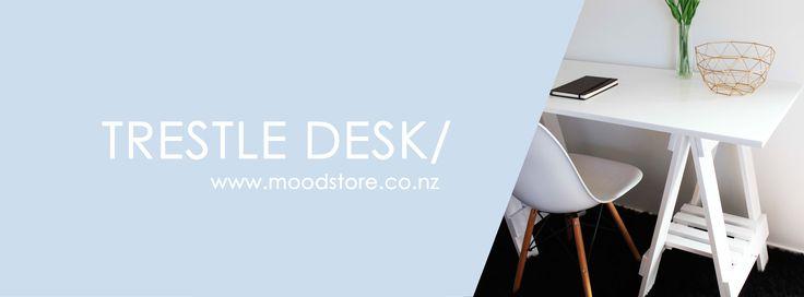 Trestle Desk in white