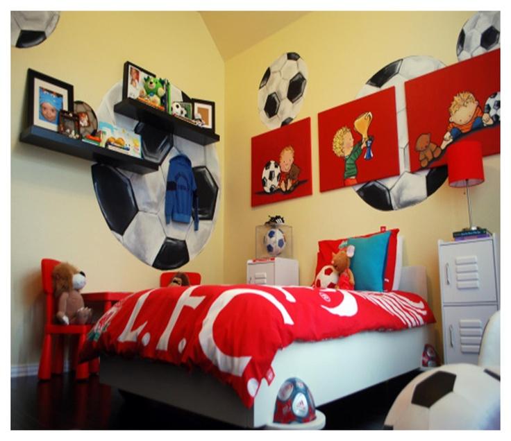 Lovely football room for boys. Top 25 ideas about Football Themed Bedroom Ideas on Pinterest