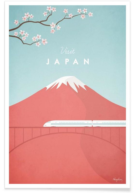 Japan as Premium Poster by Henry Rivers | JUNIQE                                                                                                                                                                                 More