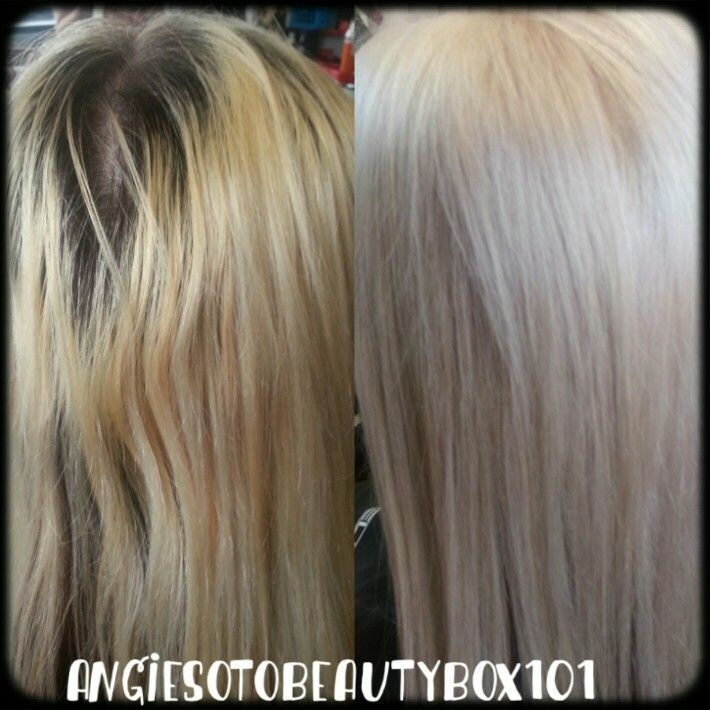 Before after color correction