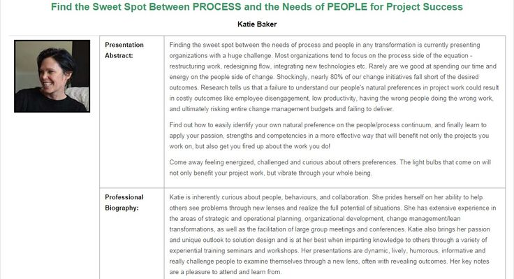 """National Capital Project Management Symposium - Speaker """"The sweet spot between process and people"""""""