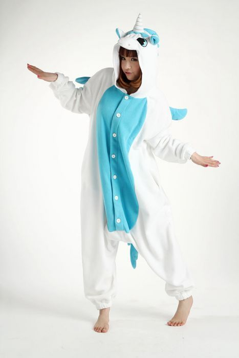 Adult Unicorn Costume   Halloween Costumes,Blue Unicorn Onesie Adult Costume - Costumes