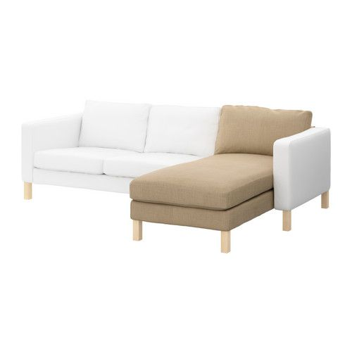 KARLSTAD Chaise longue, add-on unit - Lindö beige - IKEA
