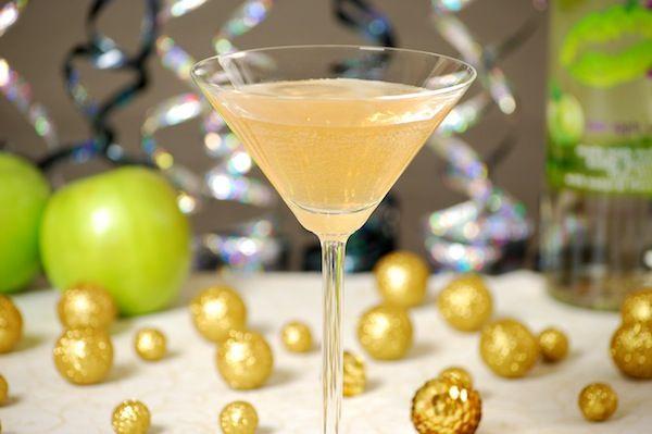 Fun and fruity New Year's Eve cocktails (Sparkling Bitter Apple Martini, Orange Sunrise & Berry-Cherry Lemonade Sparkler)