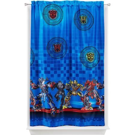 "Hasbro Transformers 4 ""Battle Force"" Room Darkening Curtain Panel"