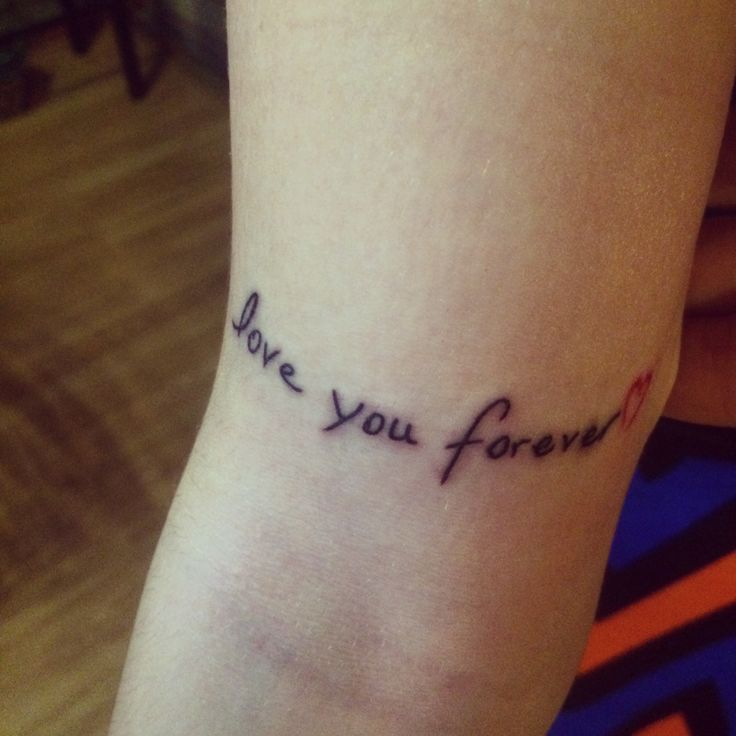 Love you forever tattoo