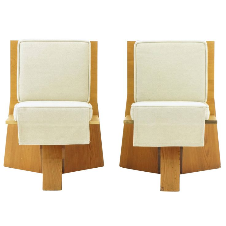 Pair Of Frank Lloyd Wright Chairs From The Sondern House, Kansas City