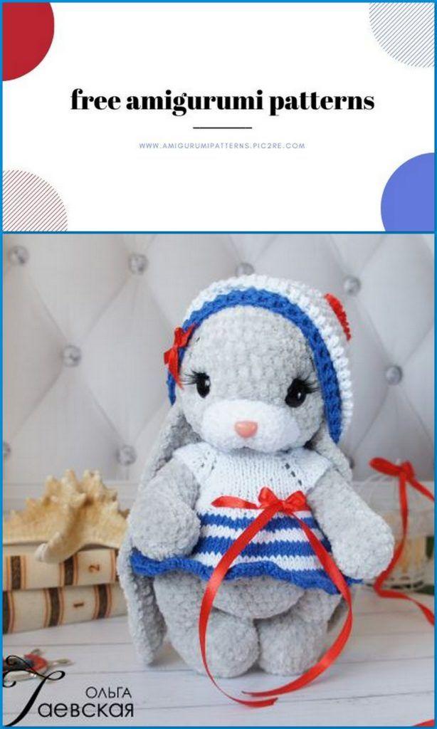 Amigurumi Velvet Little Bunny Free Crochet Pattern in 2020 | Wzory ... | 1024x614