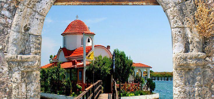 Greek traditional small chapel