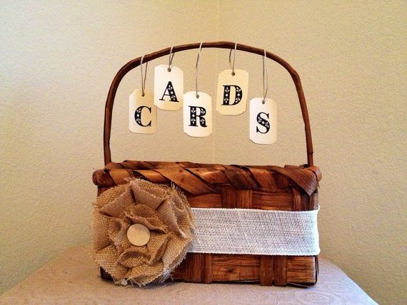 Country Chic Card Basket Wedding Decor On Etsy