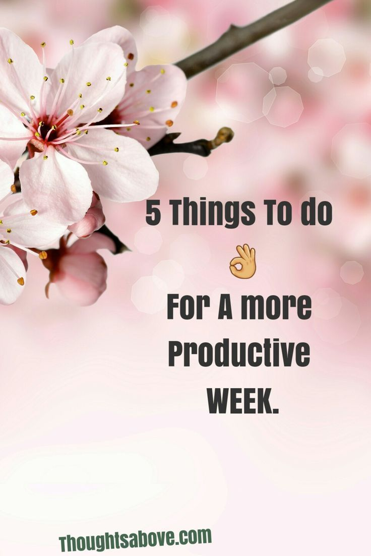 Things to do on Sunday to have a more productive week.
