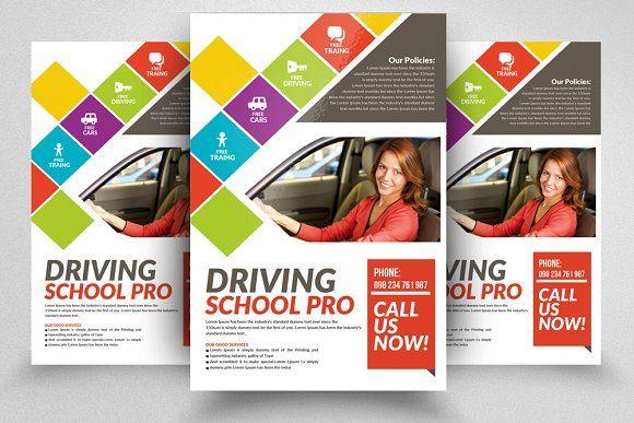 Driving School Flyers Templates School Brochure Flyer