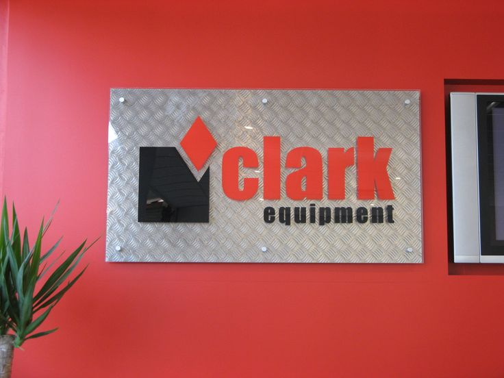 Clark Equipment #CSI #recption #siginage