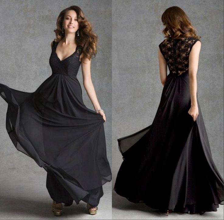 25  best ideas about Black bridesmaid dresses with lace on ...