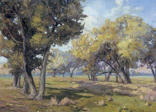 Franz Bischoff Carmel-Cottonwoods-California American Landscape Painting