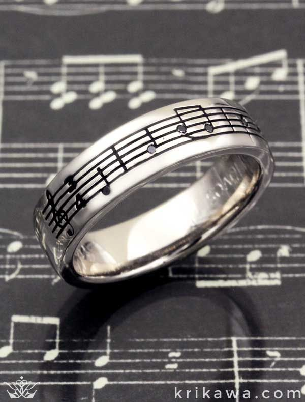 Wear Your Favorite Song And Keep It With You Forever Krikawa Will Take Musical Phrase Turn Into A Wedding Band