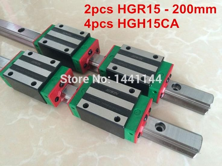 143.45$  Buy here - http://alijte.shopchina.info/1/go.php?t=32662399487 - 2pcs HIWIN HGR15 - 200mm Linear guide + 4pcs HGH15CA Carriage CNC parts 143.45$ #buychinaproducts