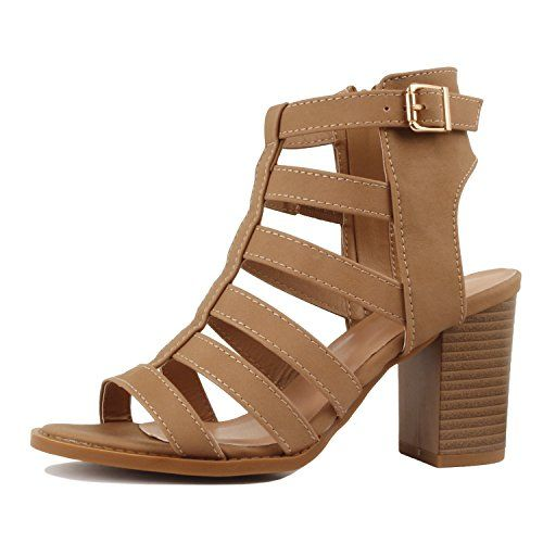 078d8f1aaa6 Guilty Shoes Womens Strappy Cut Out Gladiator - Open Toe Buckle ...