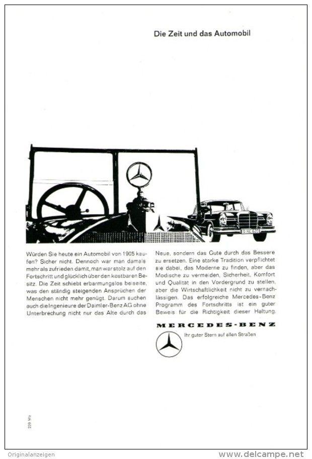 Original-Werbung/ Anzeige 1961 - 1/1-SEITE - MERCEDES-BENZ - ca. 150 X 230 mm
