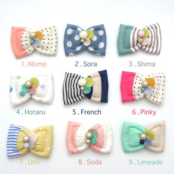 Kid Friendly Fuwa Bow Hair Clip by HOMAKO on Etsy